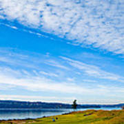 #2 At Chambers Bay Golf Course - Location Of The 2015 U.s. Open Tournament Art Print