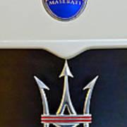 2005 Maserati Mc12 Hood Emblem Art Print