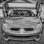 2006 Mitsubishi Eclipse Gt V6 Painted Bw Art Print