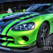 2010 Dodge Viper Acr Art Print