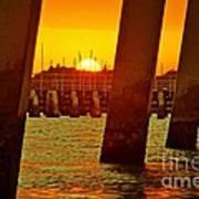 2013 First Sunset Under North Bridge 3 Art Print