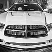 2014 Dodge Charger Rt Painted Bw Art Print
