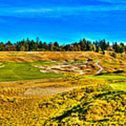 #4 At Chambers Bay Golf Course - Location Of The 2015 U.s. Open Championship Art Print