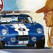 64 Cobra Daytona Coupe Art Print