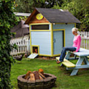A Backyard Chicken Coop In Bellingham Art Print