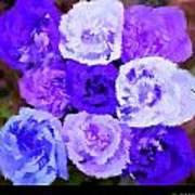 A Bouquet For You Blue Art Print