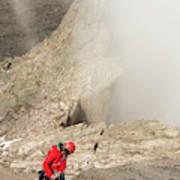 A Climber Descending Longs Peak Art Print