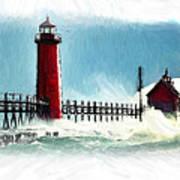 A Day At The Coast Art Print