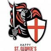 A Day For England Happy St George Greeting Card Art Print by Aloysius Patrimonio