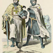 A Grand Master Of The Teutonic  Knights Art Print