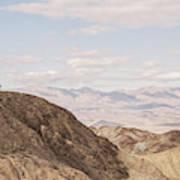 A Hiker Stands On A Peak Art Print