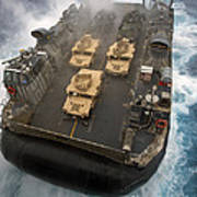 A Landing Craft Air Cushion Exits Art Print