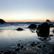 A Landscape Of Rocks On The Coast Art Print