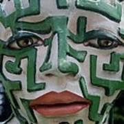 A Maze Ing Face 2 Art Print