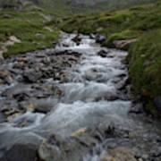 A Mountain Stream In Vanoise National Art Print