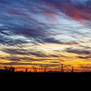 A Silhouette Sunset  Art Print