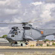 A Spanish Navy Sh-3d Helicopter Art Print