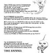 A Terrible Rhyme Art Print
