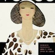 A Vintage Vogue Magazine Cover Of A Woman 1 Art Print