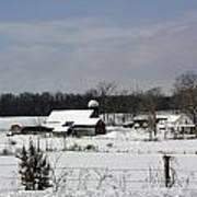A Wintery View Of A Farm On Goode Street Art Print