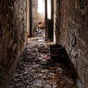 Abandoned Building - Hallway To Ladies Room Art Print