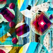Abstract Geometric Pattern Background Art Print