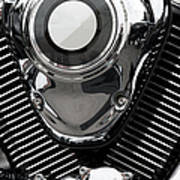 Abstract Motorcycle Engine Art Print