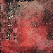 Abstract Red Digital Print Art Print