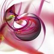 Abstract Red Globe Art Print