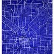 Adelaide Street Map - Adelaide Australia Road Map Art On Colored Art Print