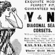 Advertisement Corset Art Print