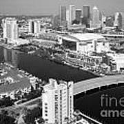 Aerial Of Downtown Tampa And Harbour Island Art Print