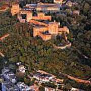 Aerial Photo  Alhambra And Albaycin In Granada Art Print