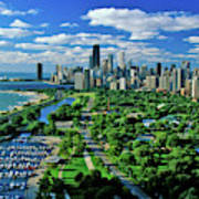 Aerial View Of Chicago, Illinois Art Print