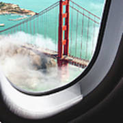 Aerial View Of San Francisco Golden Art Print