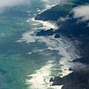 Aerial View Of Tasman Sea Shore Nz North Island Art Print