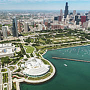 Aerial View Of The Downtown In Chicago Art Print