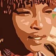 African Native Art Print