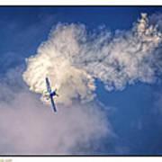 Air Show Selfridge Havilland Super Chipmunk Art Print