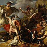 Alexander IIi Of Scotland Rescued From The Fury Of A Stag By The Intrepidity Of Colin Fitzgerald  Art Print