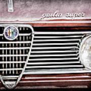 Alfa-romeo Guilia Super Grille Emblem Art Print
