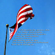 America The Beautiful - Us Flag By Sharon Cummings Song Lyrics Art Print