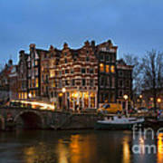Amsterdam Corner Cafe Art Print