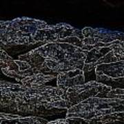 An Abstract View Of An Irish Dry Stone Wall Art Print