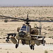 An Ah-64a Peten Attack Helicopter Art Print