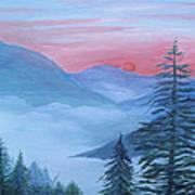 An Appalachian Morning Art Print by Glenda Barrett
