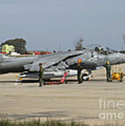 An Av-8b Harrier II Of The Spanish Navy Art Print