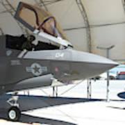 An F-35b Lightning II During Preflight Art Print