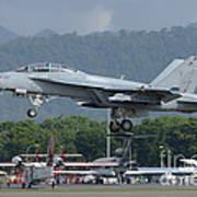 An Fa-18 Super Hornet Of The U.s. Navy Art Print
