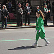 An Irish Lassie Marching In The 2009 St. Patrick Day Parade Art Print